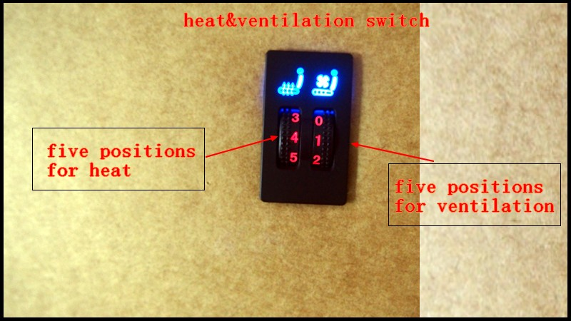 DHL free 2 sets lot 7 fans set car seat heater ventilation kits with square switch