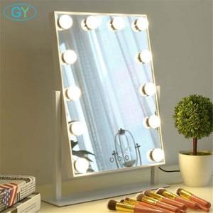 Image 5 - Miroir inclus, lampe de vanité tactile, lampe de table à intensité réglable, hollywood, pour maquillage et table lumineuse
