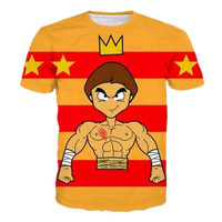 Sondirane Hot Sale Men Women 3D King Of Muscle Man Print Graphic T Shirt Summer Fashion