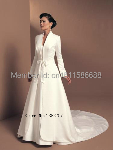 2017 New Design White Winter Coat For Bridal Dress Wedding Jacket Elegant
