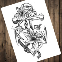Top fashion Tattoos Patterned Kraft Paper Poster about