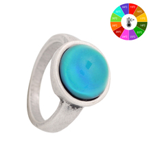 ФОТО Mojo    al Retro Color Change Mood Ring  Ring Temperature Control Wedding Ring for Women MJ-RS036