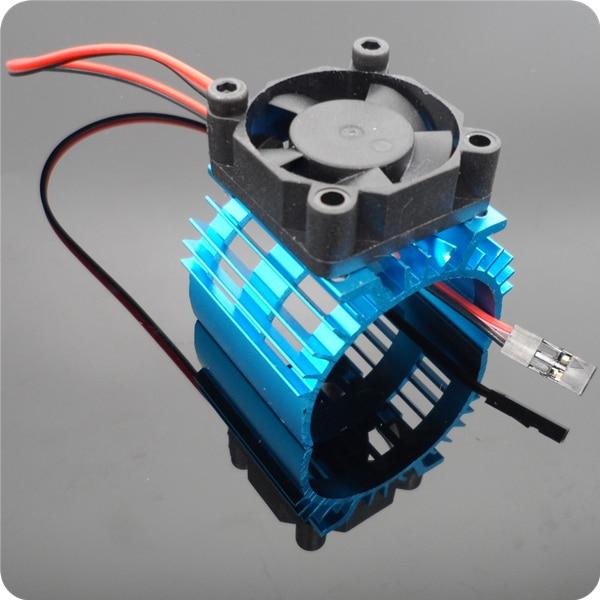 1 Satz Hsp 540 550 Motor Kühlkörper Bushed/bürstenlose Motoren Kühler Mit Lüfter Für Diy Rc Modell Autos Ersatzteile