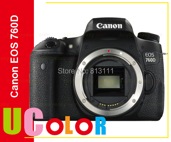 Canon 760D Rebel T6s DSLR Camera Body -24.2 MP -1080p Video -Vari-Angle Touchscreen -Built-In Wi-Fi -Top LCD Panel canon 6d dslr camera full frame 20 2mp 3 0 lcd full hd 1080p video wi fi body only brand new