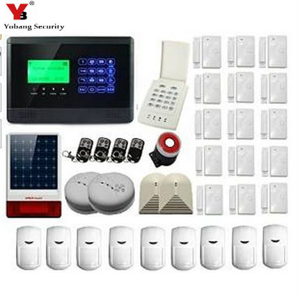 YobangSecurity LCD Security House Alarm System Wireless SMS GSM Autodial Home Burglar Intruder Alarm Solar Outdoor Siren Smoke wireless smoke fire detector for wireless for touch keypad panel wifi gsm home security burglar voice alarm system