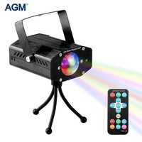AGM Mini Laser Projector Lamp Portable Stage Lighting Effect Lumiere Christmas Disco Ball DJ Bar Strobe