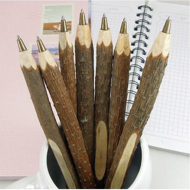 1 шт./лот Винтаж дерева ручной работы шариковая ручка окружающей шариковая ручка сучок деревянная ручка ZAKKA свадьба ручка школы офисная техника