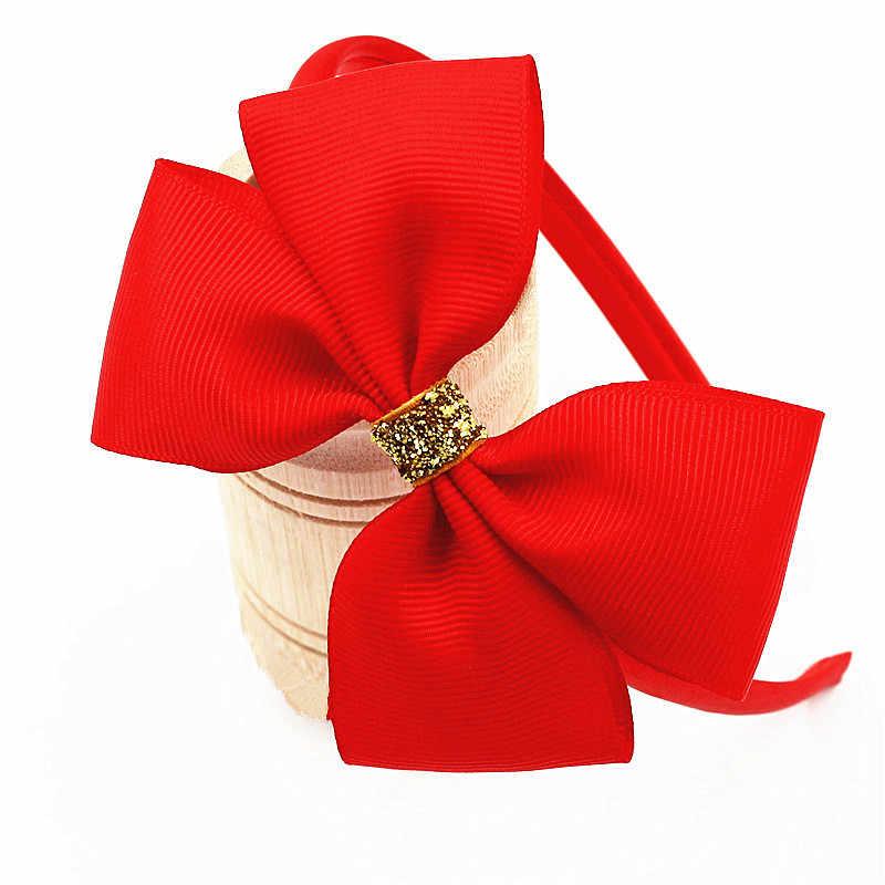 d629ba8cec423 New Fashion Ribbon Girls Bow Headband Children s Candy Colors Hair Band Ribbon  Bow Handmade Solid Head
