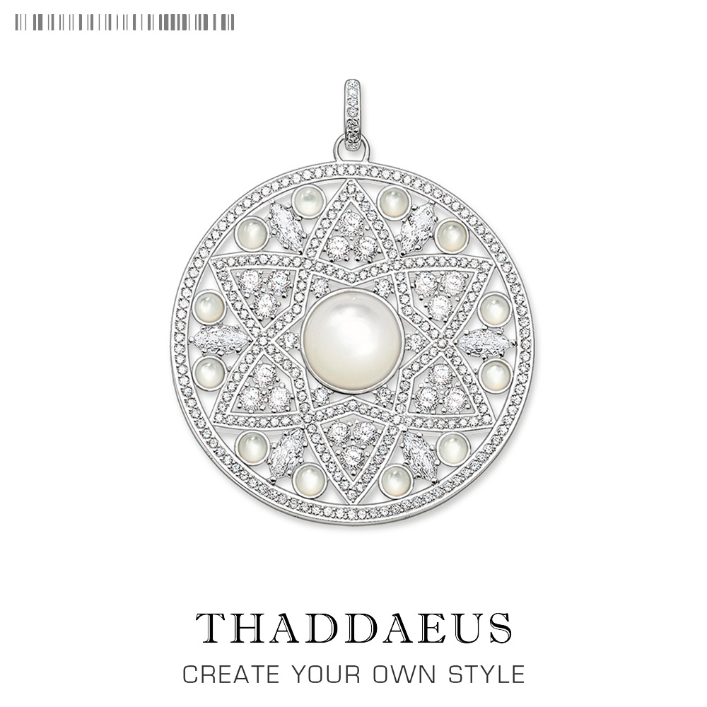 Pendant White Opal Ornament,2019 Fashion Trendy Jewelry Thomas 925 Sterling Silver Bijoux Trendy Accessories Gift For Ts Woman