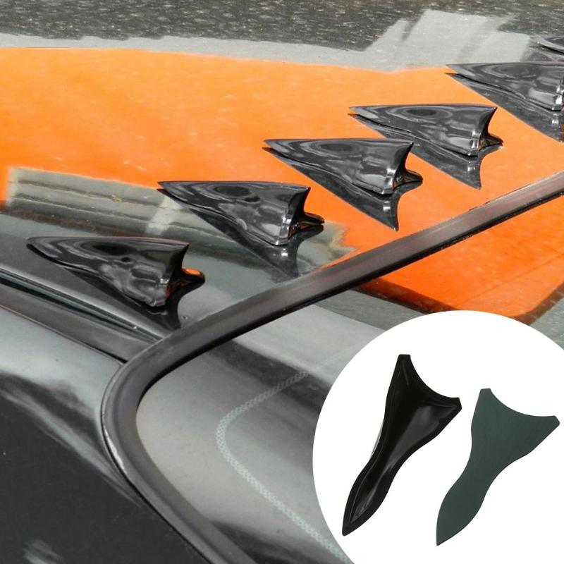 10Pc Shark Fin Diffuser Vortex Generator for Windscreen Roof Spoiler Bumper Car Styling Auto Car Exterior Accessories Promotion