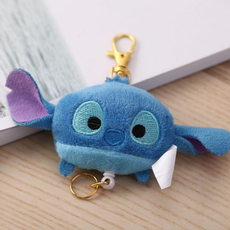 1 Pc New Totoro Plush Telescopic Keychain Cartoon Lilo & Stitch Bread Superman Pendant Stuffed Plush Toys Plush Dolll Kids Gift