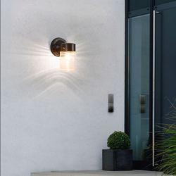 Zewnętrzna wodoodporna zewnętrzna aluminiowa prosta lampa do korytarza dziedzińca zewnętrzna balkonowa krajobrazowa kinkiet led