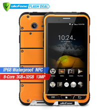 Ulefone ARMOR IP68 Waterproof Smartphone 4.7 inch HD MTK6753 Octa Core Android 6.0 3GB RAM 32GB ROM 13MP Cam OTA 4G mobile phone
