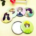 Nuevos Espejos Compactos Cosméticos de Belleza Espejo de Maquillaje Para La Boda de Dibujos Animados Chica Pintada Espejo Regalo Para Las Mujeres