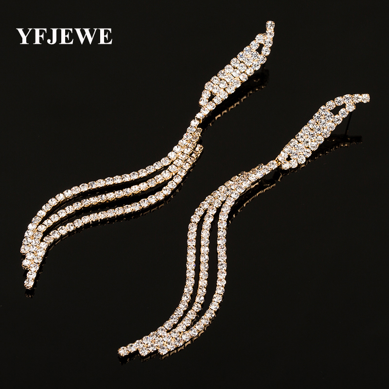 Yfjewe Fashion Gold And Sliver Plated Rhinestone Crystal Indian