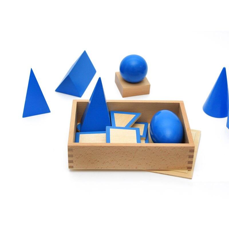 Montessori matériel d'apprentissage Montessori géométrique solides éducatifs jouets d'apprentissage précoce pour enfants Juguetes Brinquedos MG124