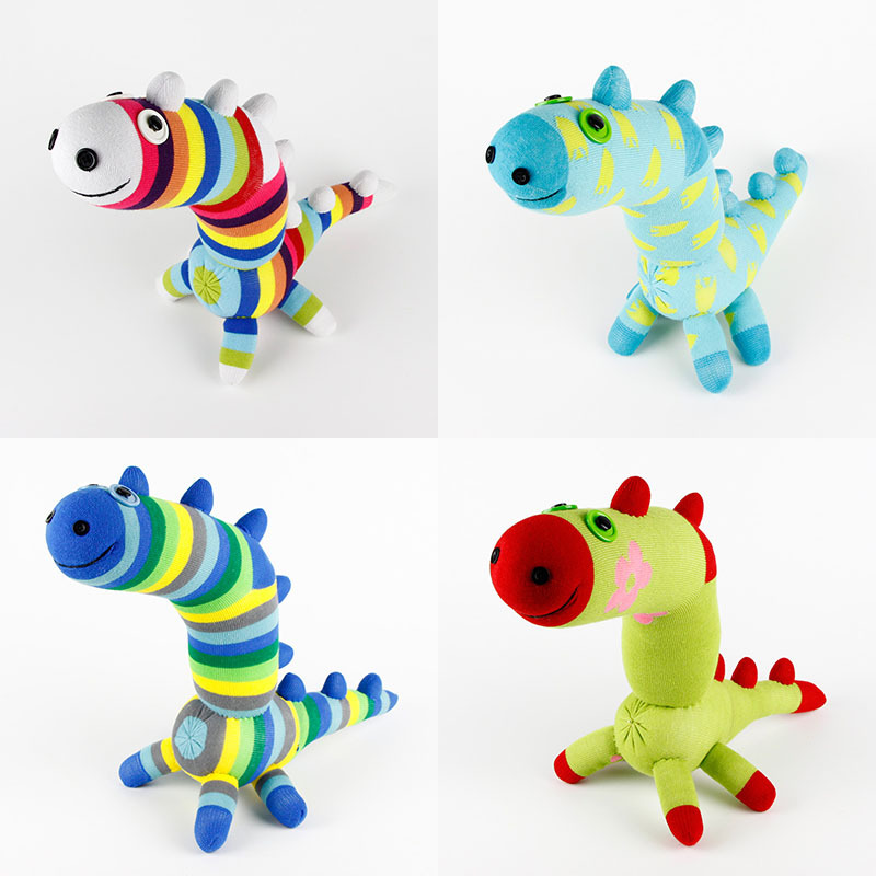 Diy Christmas Gifts From Kids: Handmade DIY Kids Birthday Gifts Stuffed Sock Dinosaur