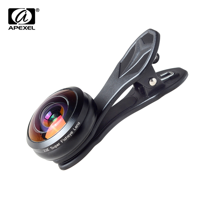 Apexel Optic Pro lens universal 238 degree Ultra fisheye lens  0.2x Super wide fish eye lentes for iPhone Samsung smartphone 2