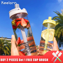 Keelorn 750ML Hot Sale Creative New Fashion Glass Water Bottle Outdoor Sports High Capacity Brief