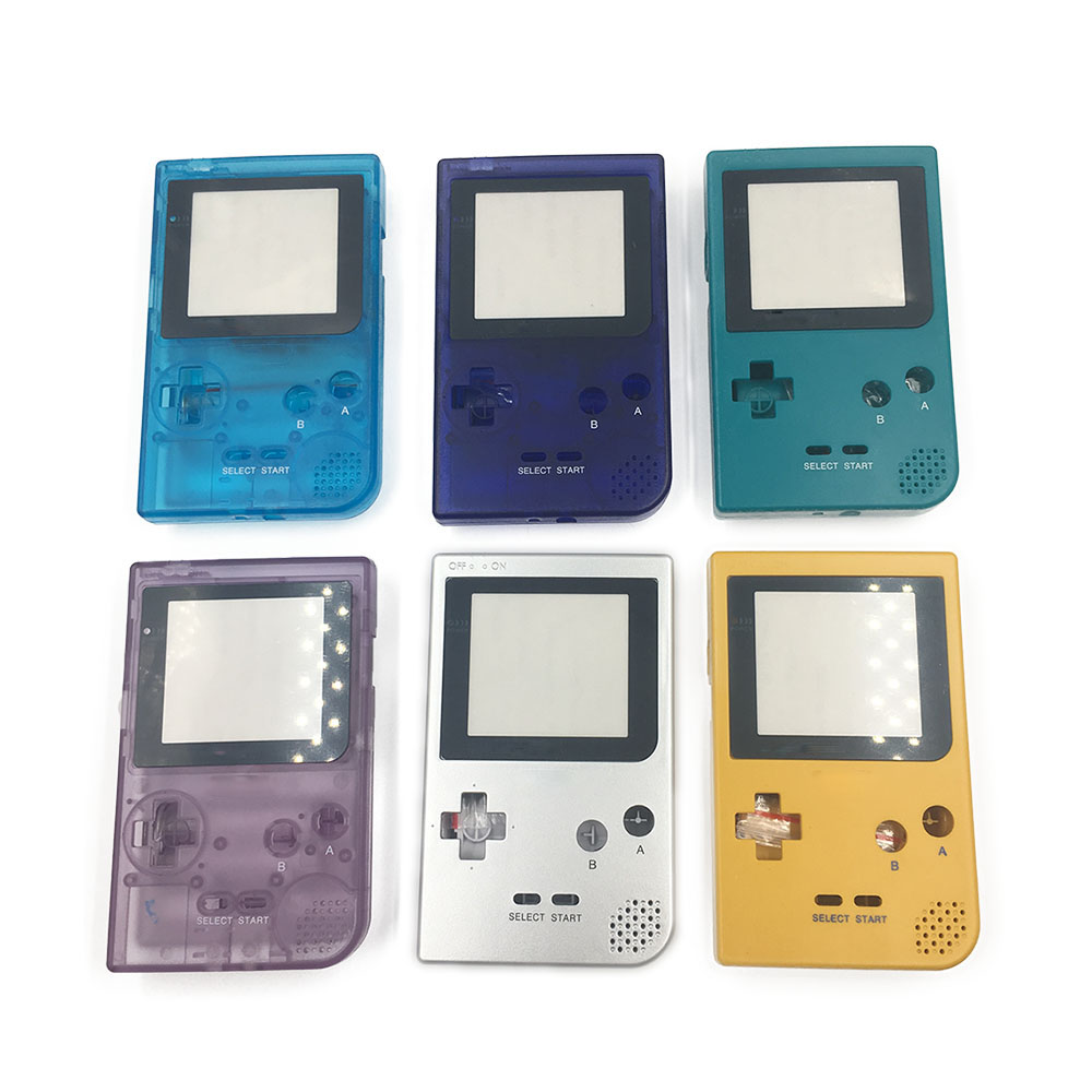 Yellow Clear Blue Clear Purple silver Full Housing Shell for Nintendo Game boy Pocket GBP Case Cover
