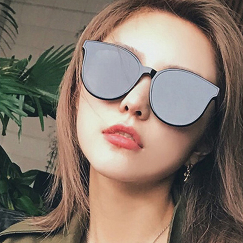 OLOEY Sunglasses fashion translucent star with sunglasses tide Korean sun visor