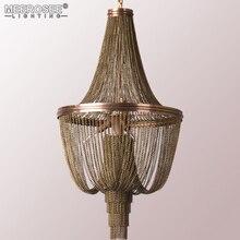Lámpara colgante de cadena de aluminio Estilo Vintage para restaurante, Hotel, estudio de arte, lámparas de dormitorio, diseño italiano, luz brillante