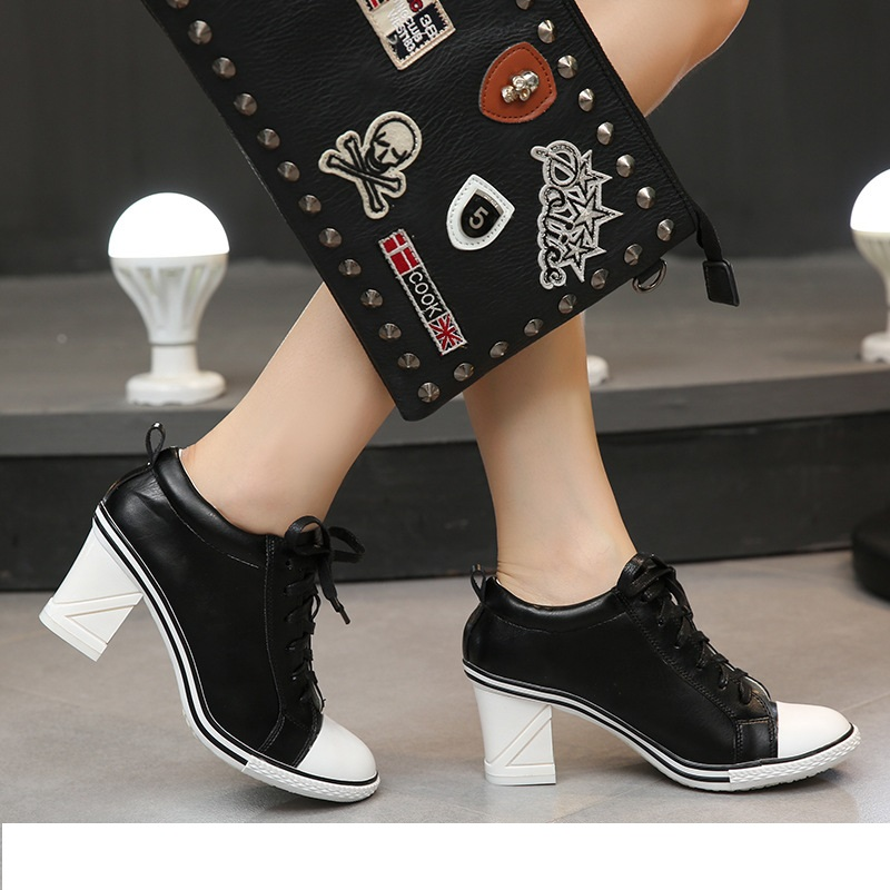 8 style Boots 2018 New Women's Shoes High heels 6-8cm Female Pumps Lady's Boots Ankle Lace-Up Thick heel Thin Heels Shoes Size 2018 spring new design women shoes high heels thick soled platform shoes lace up bullock style mid heel big size sweet girls