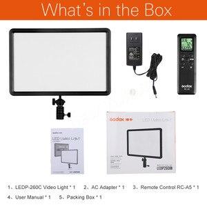 Image 2 - GODOX LEDP260C Ultra ince 30W 3300 5600k LED Video işığı Panel lambası dijital DSLR kamera stüdyo fotoğraf