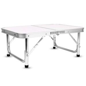 Image 4 - אלומיניום מתקפל קמפינג שולחן מחשב נייד מיטת שולחן מתכוונן חיצוני שולחנות מנגל נייד קל משקל פשוט גשם הוכחה GG