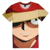 New T-shirt Homme Luffy Face T Shirt Cartoon Anime One Piece Tees Tops Casual Short Sleeve Summer Shirt