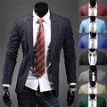 Traje hombres de la moda Slim Fit Blazer Pop Chaqueta de Los Hombres de Negocios Negro Ocasional Outwear Nuevo 062