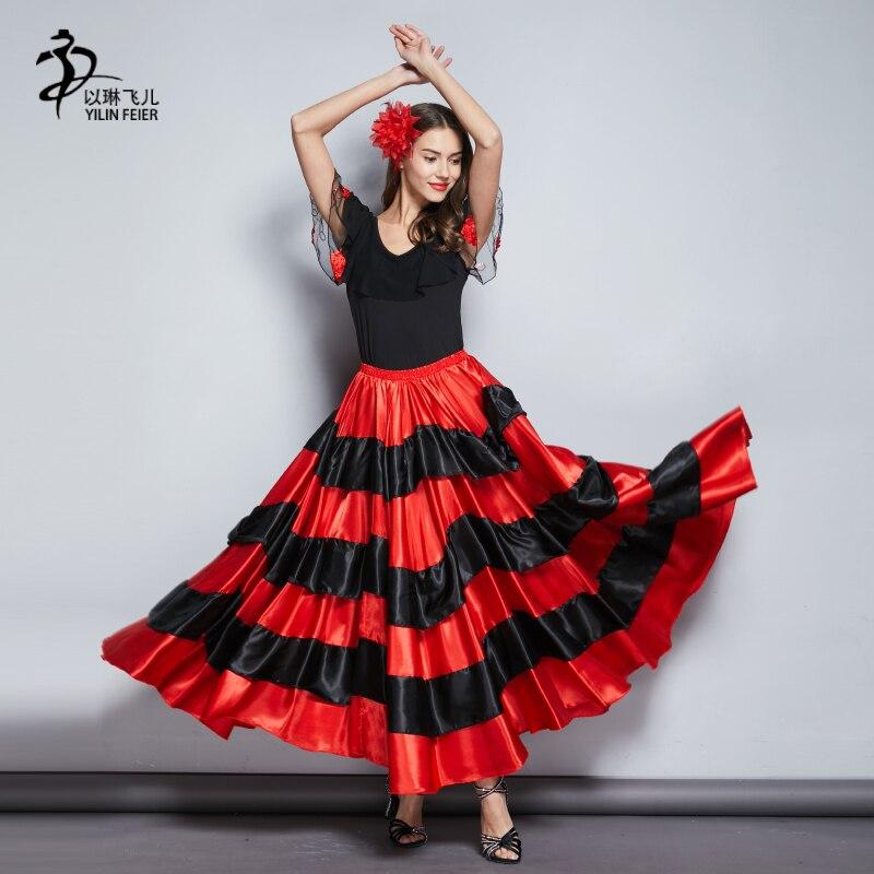 2541ccdb8f Vientre círculo de baile falda para las mujeres Flomenco falda gitana Falda  de baile en Flamenco de La novedad y de uso especial en AliExpress.com