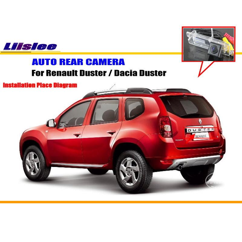 Car Rear View Camera For Renault Duster / Dacia Duster / Reverse Camera / License Plate Lamp OEM NTST PAL Color TV