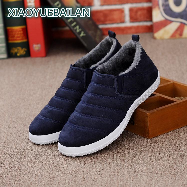 Slip Mode En Chaussures Chaud Hiver Hommes Cachemire Vieux bleu gris De Mâle Épaissie Bottes jaune Noir Et Occasionnels 9EHWYID2