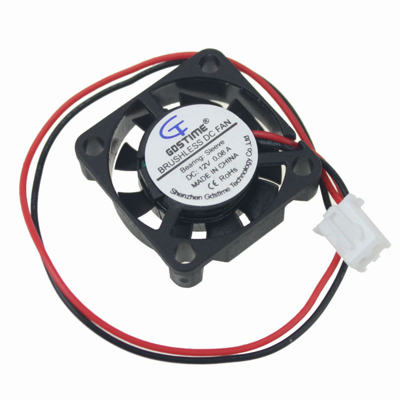 Gdstime 2 PCS 25mm x 7mm 12V XH2.54 2Pin Small Micro Blushless DC Cooling Fan 25x25mm 2507 25x25x7mm gdstime 10 pcs dc 12v 14025 pc case cooling fan 140mm x 25mm 14cm 2 wire 2pin connector computer 140x140x25mm