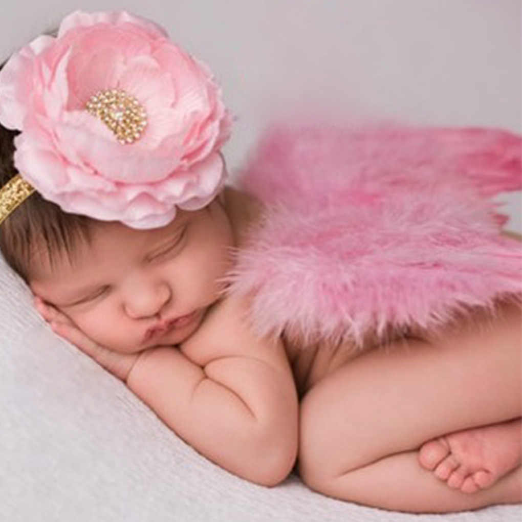 Newborn photography accessories angel wings baby photo props handmade costumNYFK