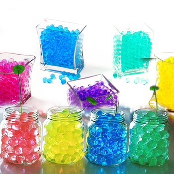 Wiele kolorów kryształowe błoto gleby 100 sztuk dorastają koraliki wodne śliczne hydrożel magiczny żel Jelly Balls Orbiz Sea Babies dla wazon Decor C tanie i dobre opinie 2 0-2 5mm Kryształ gleby 13colors for choose 500pcs pack