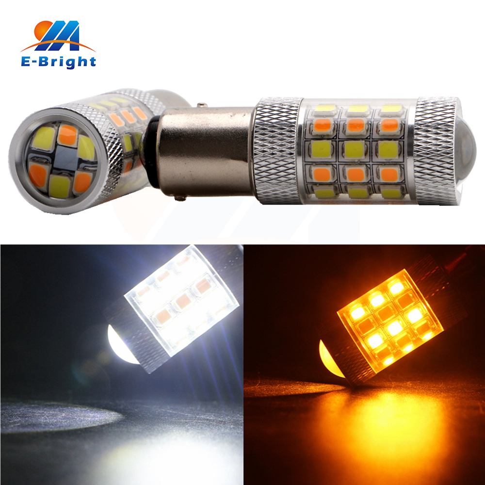 2pcs 2835 42 SMD S25 1157 BAY15D Leds Bulb Car LED Lamp 12VDC Bulbs Stop Brake Lights Auto Backup Tail Lamp 2 Colors New Arrival