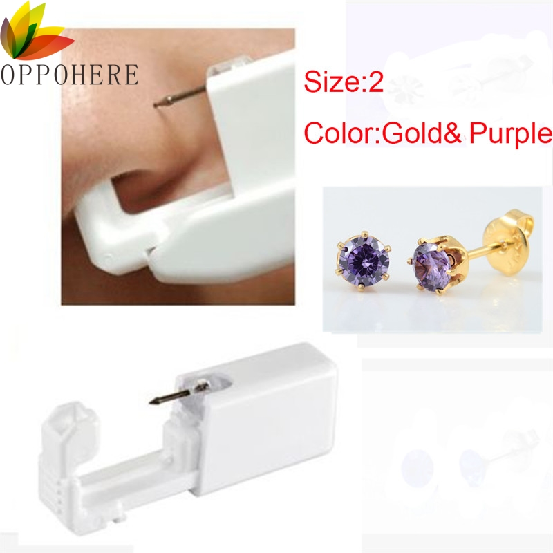 Hot Sale 1 Unit Disposable Safety Sterile Body Piercing Gun For Ear Nose Piercing Gun Tool Machine Kit For Dropshipping