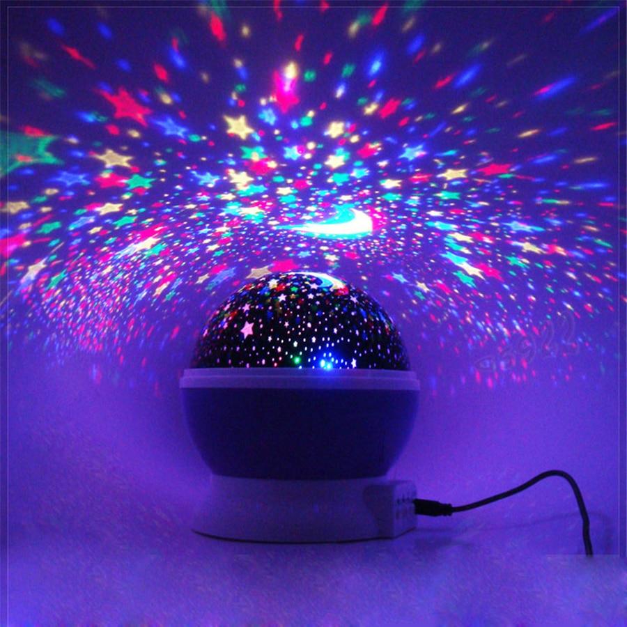 Night light projector lamp - Star Lighting Lamp Led 360 Degree Romantic Room Rotating Cosmos Starsprojector Night Light Starry Moon Sky