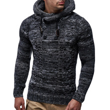 New Men Sweaters Knitted Mens Casual Sweaters Man Hooded Pullover Cotton Sweatercoat Men Hooded Slim Sweater Pullover Pull Homme