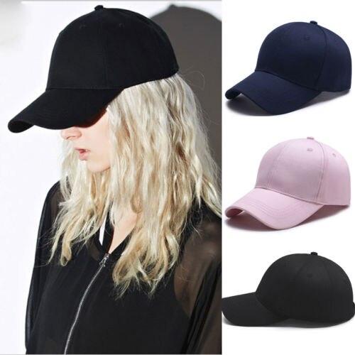 ✨New Men Blank Plain Snapback Hats Unisex Hip-Hop Adjustable Bboy Baseball Cap