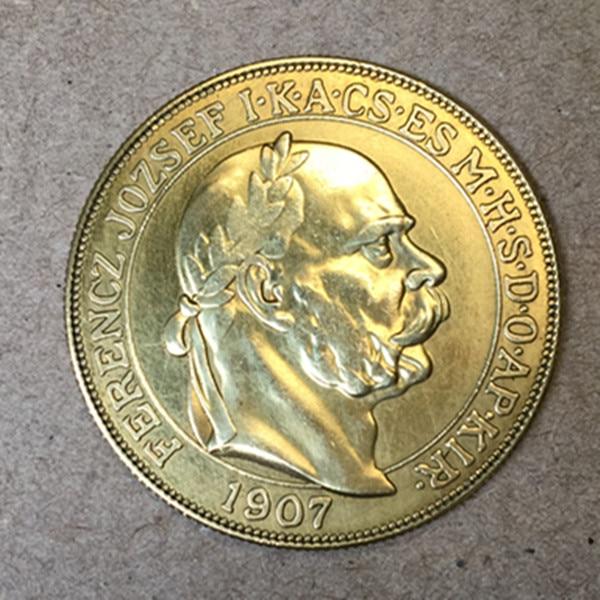 Plated, Jozsef, Pure, Gold, Hungary, Korona