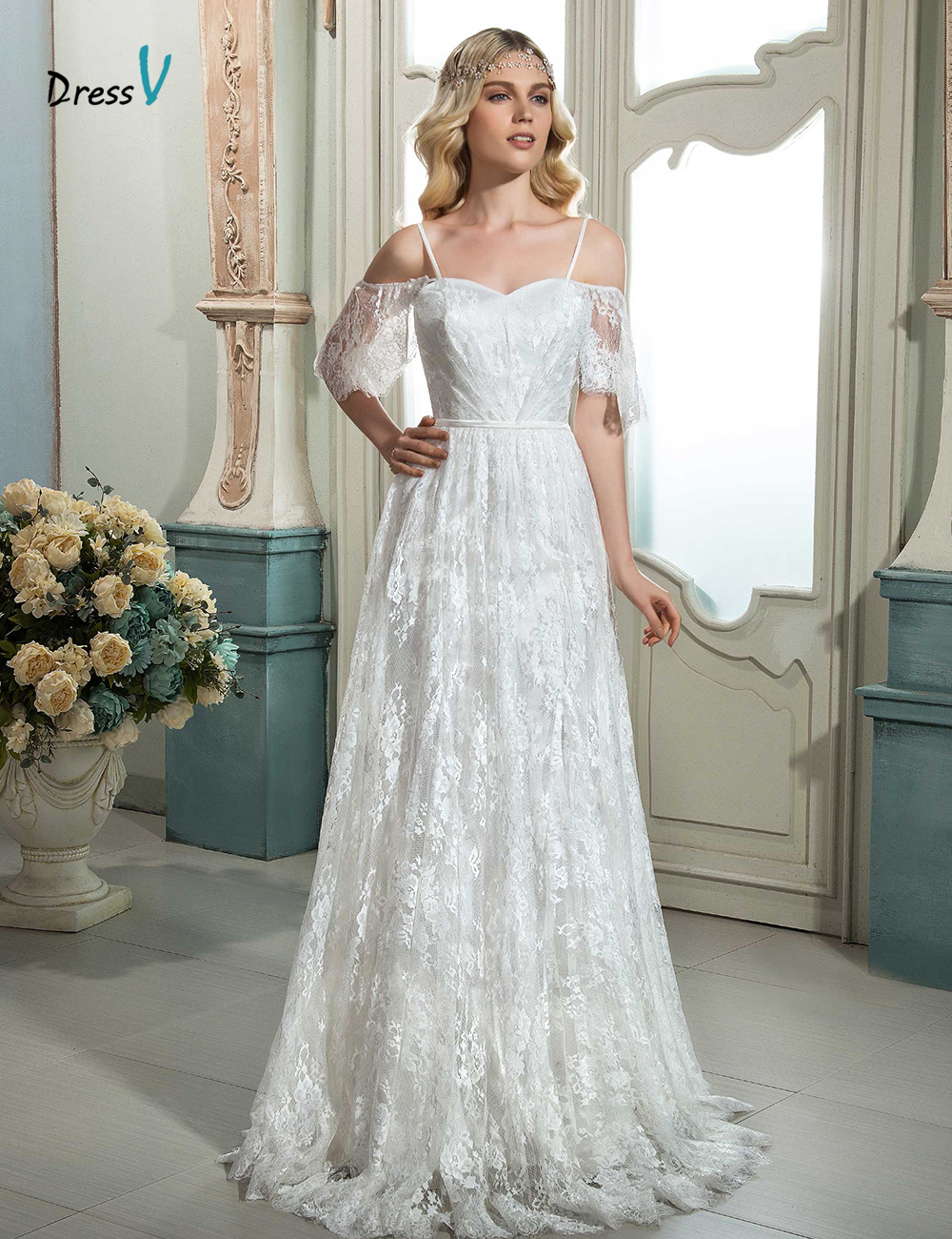 wedding dresses ivory cheap ivory wedding dresses free shipping cheap aline wedding dresses ivory black half sleeve lace up tea length applique lace scoop in stock sheer bridal gowns