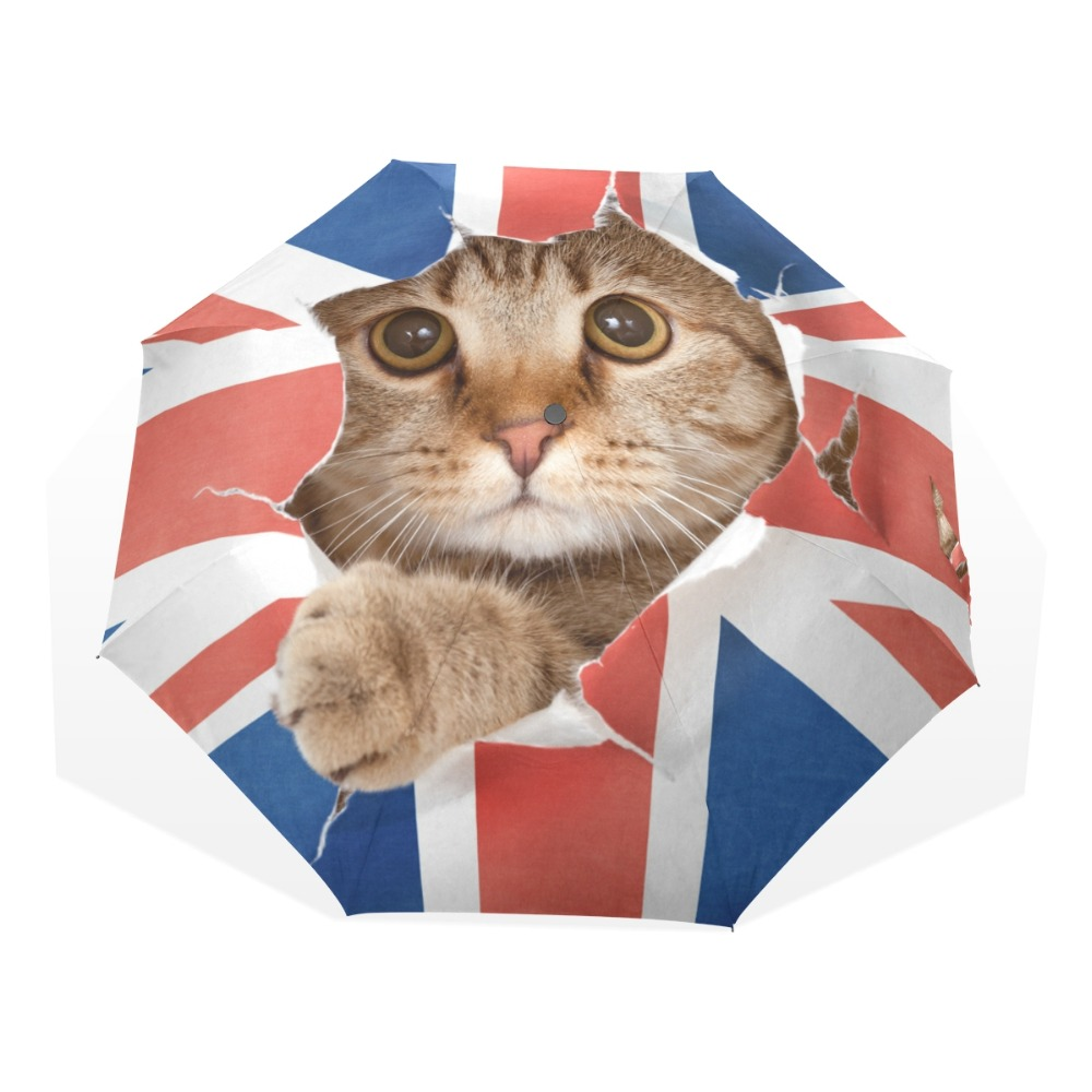 Unieke leuke kat paraplu regen vrouwen opvouwbare paraplu's - Huishouden