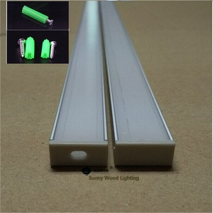 Image 3 - 10 40 Stks/partij 2M Aluminium Profiel 80Inch Led Bar Licht Voor Dubbele Rij Led Strip, w18 * H8.5mm Aluminium Behuizing Van 16Mm Pcb