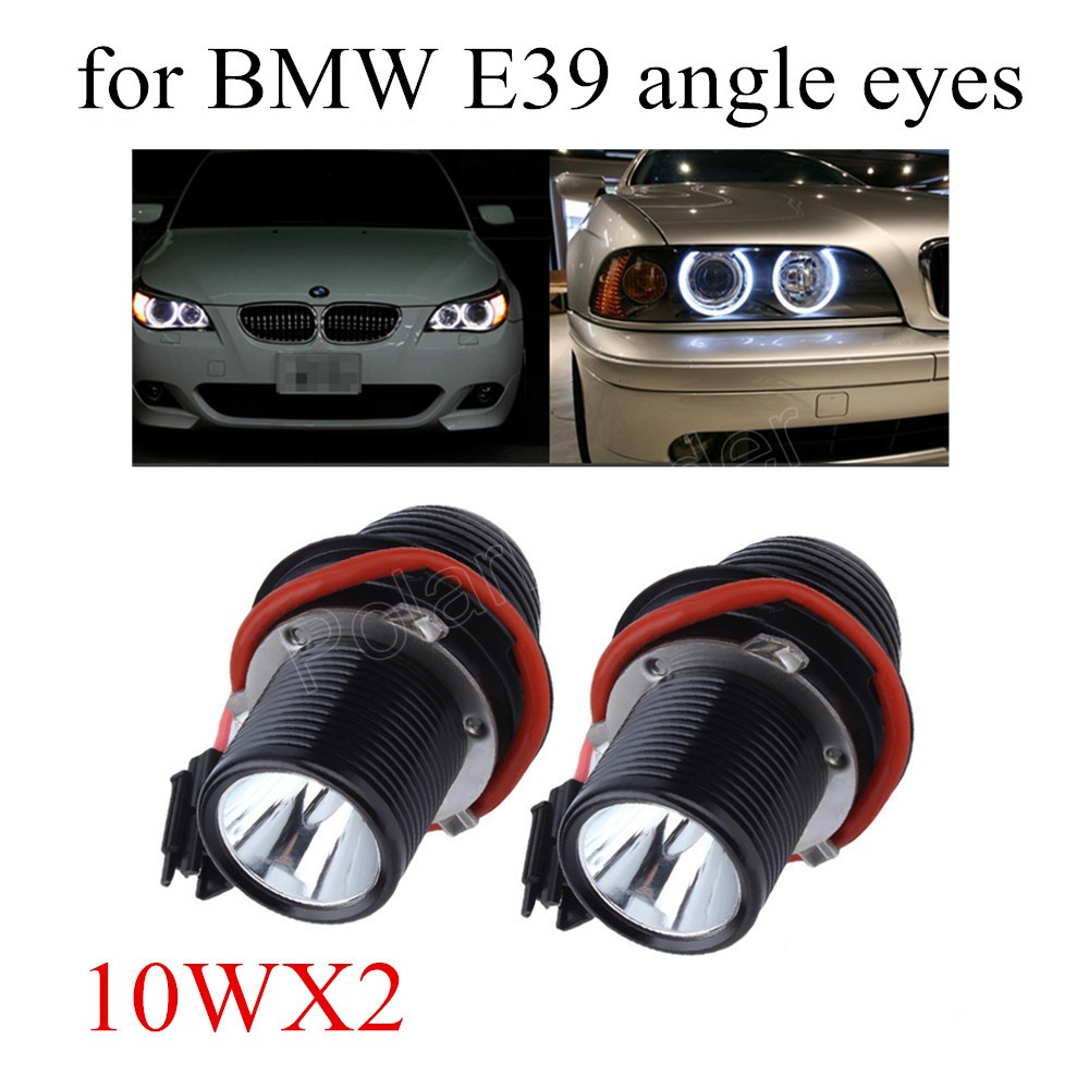 free shipping 2 pieces 2x 10W LED Angle Eye Halo Ring Light Bulb For BMW E39 E60 5 Series M5 X5 E53 E63 E65 X3 12V