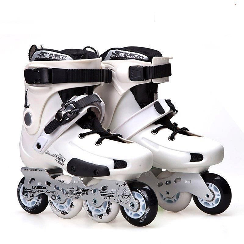 Labeda FRM Slalom Inline Skates 4 Wheels Adult Skating Shoes With Rocking Type PU Wheels For Free Skating Sliding Street Skating adult children teenagers inline ice skate shoes helmet protective gear sets knee protector adjustable washable flash wheels
