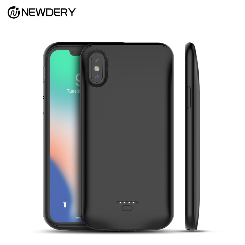 NEWDERY hottest Power bank battery cover case 5000mAh for iPhone XR XS Max portable Backup charger case for iPhone 10 XS X