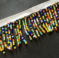 2 Yard  multicolor Bead Tassels Beaded White Lace Trim Ribbon For Apparel Sewing Apparel DIY Bridal wedding Doll Cap